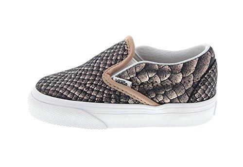 Vans Tods Klassieke Slipon Sneakers Schoenen Metallic Snake / Rose Gold / True White