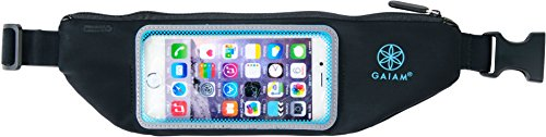 Gaiam Smartphone Fitness Belt, Cell Phone Holder Exercise Case, Touch Screen