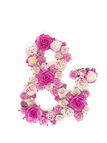 Savvi Jewels Paper Floral Monogram Letter made with Handmade Mulberry Paper Flowers, Floral Initial, Flower Letter, Decorative Signs