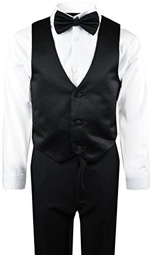 Boys Tuxedo in Black Dresswear Set Size 4T by Black n Bianco (Image #3)