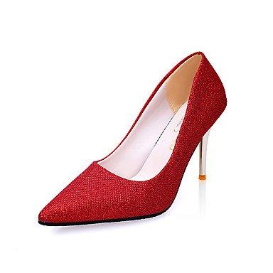 Talones de las mujeres Zapatos Primavera Verano Otoño Invierno club Comfort PU para oficina y del partido de la carrera y del vestido de noche del tacón de aguja OthersBlack Rosa Rojo Red