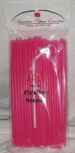 IGC Clearance 10,000 Straws - Flex/Flexible Drinking Straws - Wholesale Lot - Luau - Wedding - Party - Hot Pink - Flexible Straws -