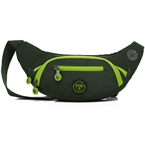 Unisex Waist Bag Pack Sports Travel Cycling Waist Purse Red - 4