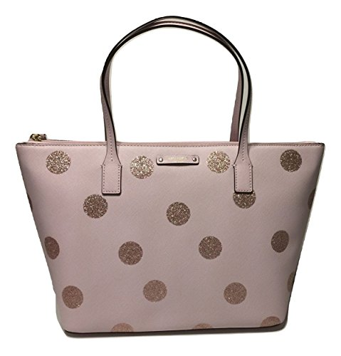 Kate Spade New York Haven Lane Hani WKRU4119 Pink Glitter Polka Dot plmdwn/dot (679) by Kate Spade New York