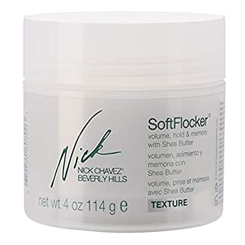 Nick Chavez Beverly Hills SoftFlocker Premium Styling Cream – Layered and Textured Hair Styling Control with Shea Butter – 4oz