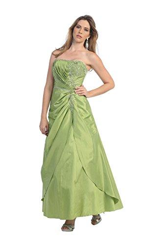 Olive Linie XL Abendkleid Festkleid Ballkleid Hochzeitsgäste Brautmutterkleider A Corsagenkleid Lang qw7XOx1gz