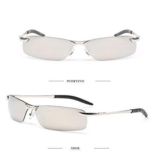 hombres pesca Mercurio de de 3043 Marco Aiku gafas Marco sol Plateado polarizadas unidad 2018 morado sol de gafas última deportivas de nariz blanca sombreado moda plateado Verde xwYF0IY