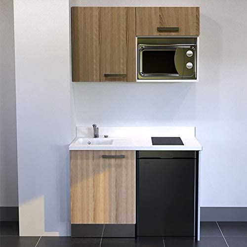 CUISIBANE Kitchenette K07 – 120 cm (con Tarjetero Nevera Top y ...