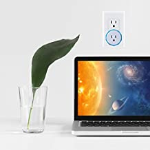 WiFi Outlet Smart Plug Mini Compatible with Alexa and Google Home Switch Socket Blue, No Hub Required, Control with Smartphone Apple iPhone Android Samsung 1-Pack