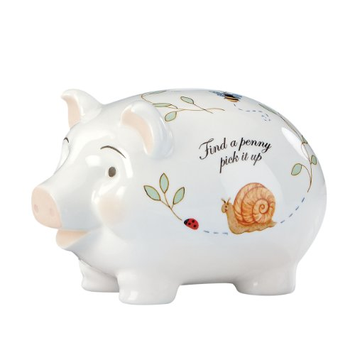 Flower Girl Piggy Bank - Lenox Butterfly Meadow Piggy Bank