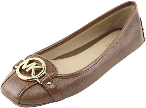 Michael Michael Kors Women's Luggage Leather Fulton Moc Flats 7.5 (B) US Women