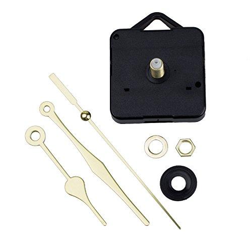 SODIAL Quartz Clock Movement Mechanism Gold Hands DIY Repair
