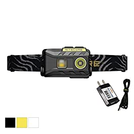 Nitecore NU25 360 Lumen Triple Output – White, Red, High CRI – 0.99 Ounce Lightweight USB Rechargeable Headlamp with LumenTac Adapter