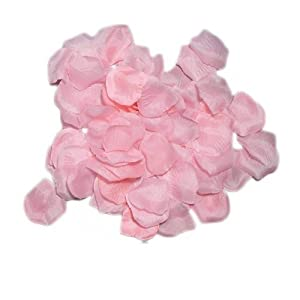 Olymstore(TM) 1000 Pcs Silk Rose Petals Artificial Flowers Wedding Party Favors Decoration Pink 37