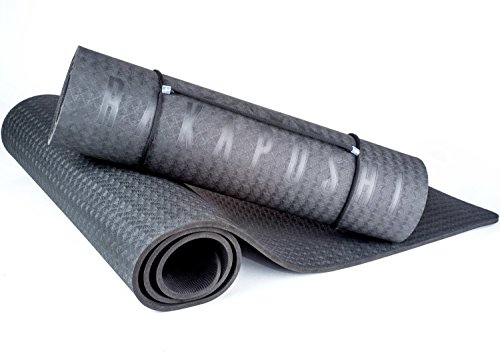 Rakaposhi Yoga Mat - 1/3-Inch Extra Thick Mat for Exercise Pilates Sit-ups and Workouts w/ Carrying Strap