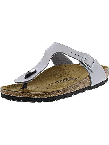 Birkenstock Women's GIzeh Thong Sandal, Silver, 39 N EU/8-8.5 2A(N) US