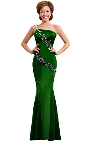 Beauty Abendkleid Emily One Mermaid Grün Shoulder formale mit wwXrFq