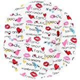 Spa Sister Bouffant Shower Cap-Hearts & Kisses