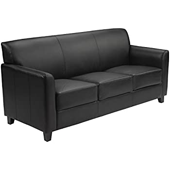 Exceptionnel Flash Furniture HERCULES Diplomat Series Black Leather Sofa
