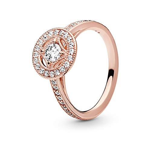 Pandora Jewelry Vintage Circle Cubic Zirconia Ring in Pandora Rose, Size 7