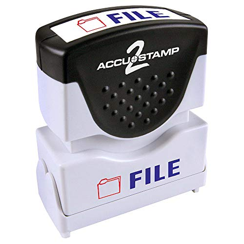 (ACCU-STAMP2 Message Stamp with Shutter, 2-Color, FILE, 1-5/8