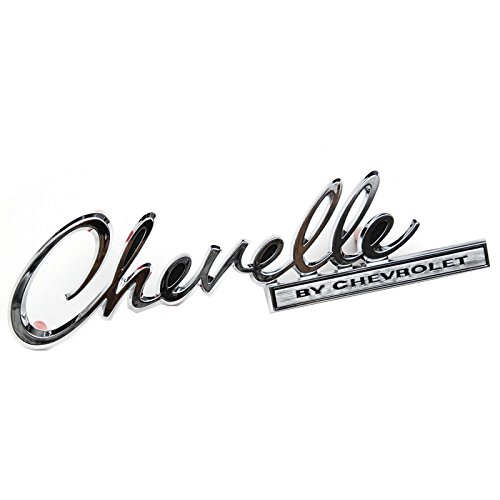 Eckler's Premier Quality Products 50-281700 Chevelle Trunk Emblem, Chevelle By Chevrolet, (Chevrolet Chevelle Trunk)