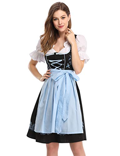GloryStar Women's German Dirndl Dress 3 Pieces