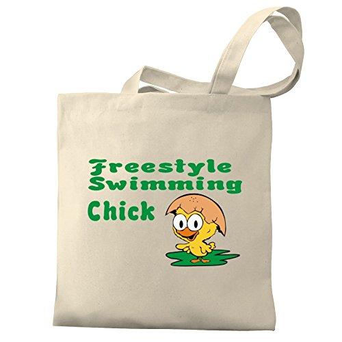 Canvas Eddany chick Bag Eddany Freestyle Tote Swimming Freestyle nX6w5pxaq