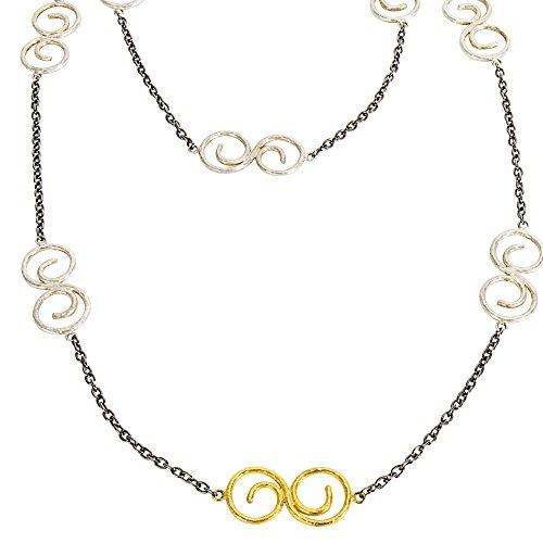 Gurhan Yellow Earrings - Gemma by WP Diamonds Gurhan Tri Tonal Long Necklace in Sterling Silver MSRP 1,525