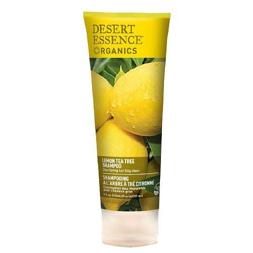 Desert Essence Shampoo for Oily Hair, Lemon Tea Tree 8 fl oz (237 ml) (Pack of 3)