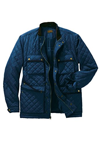 Blue Boulder (Boulder Creek Men's Big & Tall Quilted Jacket, Navy Big-3Xl)