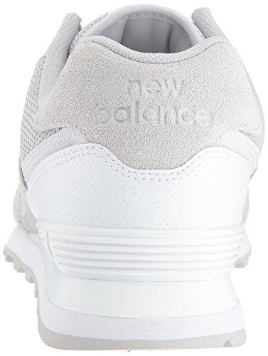 New Balance Mens 574v1 Synthetic/Mesh Sneaker Grey/White FjcmD
