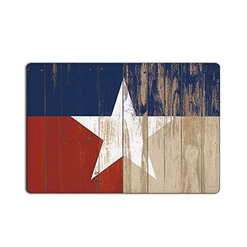 tage White Star on Wooden Doormat Entrance Mat Indoor/Outdoor Door Mats Floor Mat Rug Mat ()