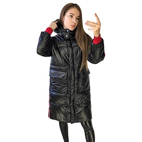 Women Thicker Coats Winter Warm Loose Windproof Aurora Bright Surface Diamond Long Overcoat E-Scenery (24 Maroon Replica Football)