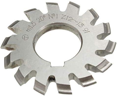 GENERICS LSB-Werkzeuge, Modul 1.5 M1.5 PA20 Grad Bohrung 22mm # 1-8 HSS Involute Zahnradfräser Hochgeschwindigkeitsstahlfräser Zahnradschneidwerkzeuge (Cutting Edge Diameter : 2)