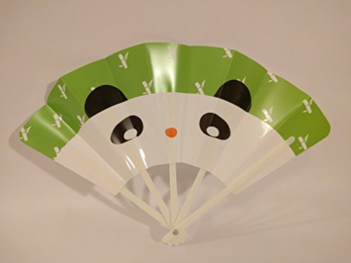 Hand Fans Kids Birthday Party Favors for Kids! Bright Fun & Safe! Chinese Fans Panda 4 ct -BambooFul