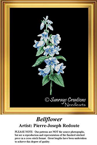 Sunrays Creations The Black Collection Cross Stitch Patterns   Bellflower (Pattern Only, You Provide The Floss and Fabric) ()