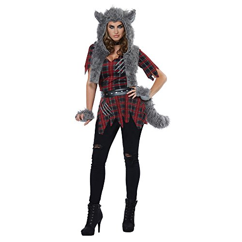 California Costumes Women's She-Wolf - Adult Costume Adult Costume, -Red/Gray, -