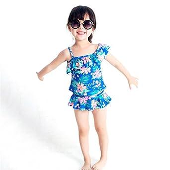 f64324dc2c2 Amazon.co.jp: Moobom ガールズ水着 上下セット キッズ kids ジュニア スイミング水着子供水着 子供服 ビーチ 夏 海水浴  可愛い2点セット: 服&ファッション小物