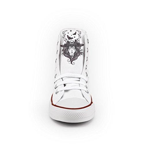 dame Converse zapatos Personalizados artesanía e impresos de cerfs Ar0gAwq