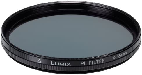 Black Panasonic DMW-LPL55 55mm Camera Lens Polarizing Filters