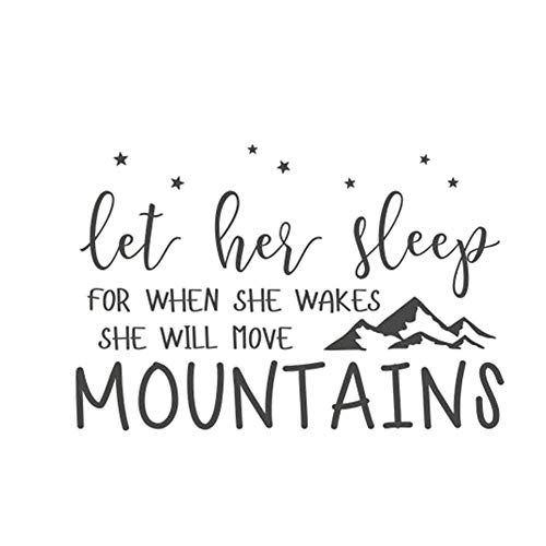 Wall Letters Toile - Letters Hills Wall Decals, Removable DIY Art Decor Wall Stickers Murals for Living Room TV Background Kids Girls Rooms Bedroom Decoration (B, 58X87CM)