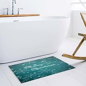 Sun-Shine moderno Felpudo (de nieve de Navidad diseño de impresión para decoración del hogar antideslizante Felpudo entrada alfombra alfombra
