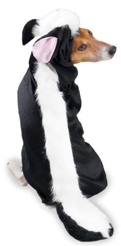 "Costumes Black And White (Casual Canine Lil' Stinker Dog Costume, Extra Small – Black and White Skunk Costume for Your Dog Fits Lengths Up to 8"")"