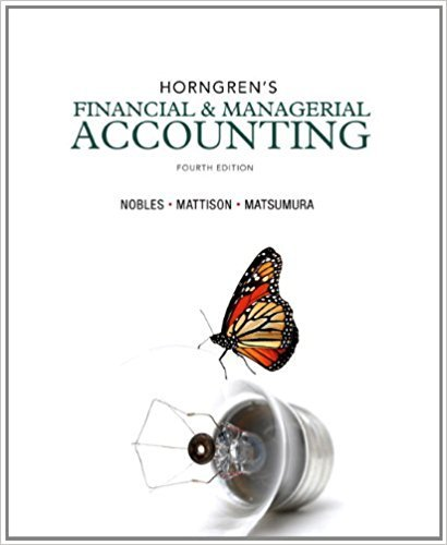 Horngren's Financial & Managerial Accounting (4th - Loveland In Stores Co