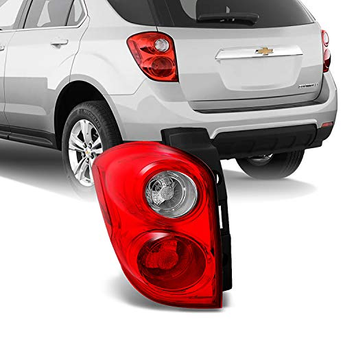 For Chevy Equinox SUV Red Clear Rear Tail Light Brake Lamp Taillamp Repalcement Dirver Left Side