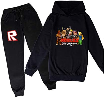 Youth Boys Girls R-OBLOX Pullover Hoodie and Sweatpants Suit 2 Piece Outfit Fashion Sweatshirt Set