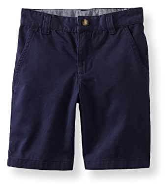 Kitestrings Little Boys' Toddler Flat Front Twill Short With Side Seam Pockets, Peacoat Navy, 2T