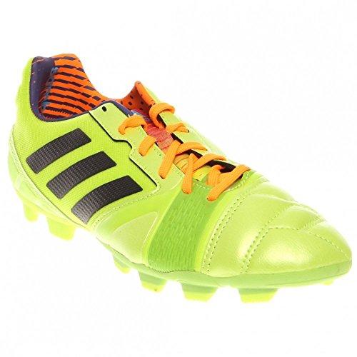 - Adidas Nitrocharge 2.0 TRX FG Junior Soccer Shoes - Solar Slime (Little Kid/Big Kid) - 5.5
