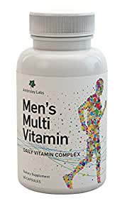 Vitamins For Men - Multivitamins High in B6, B12, D, K and Omega3/Omega 6 - Help To Restore Your Performance, Energy and Improve Your Health - Best 30 Day Guarantee!